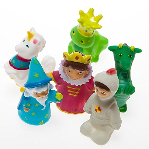 Fairy Tale Finger Puppet Party Favors (24 Assorted Characters) Kings, Knights, Wizards