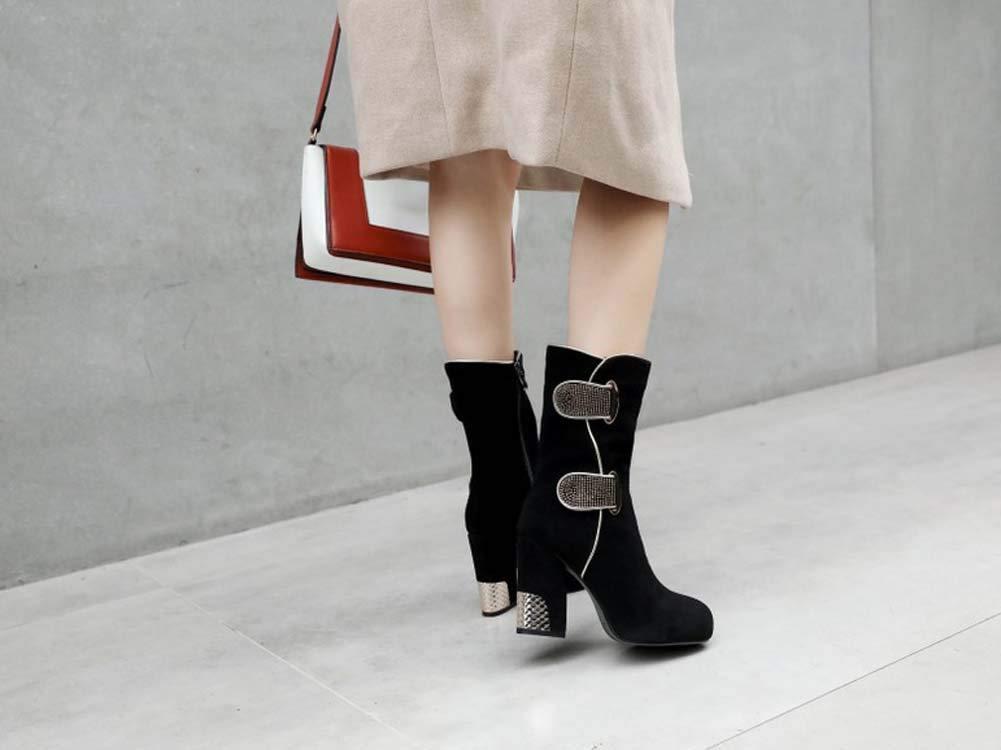 SHINIK Frauen Fashion Platform Stiefel 2018 Herbst Winter Neue Heel High Heel Neue Stiefel große Größe 6c5c67