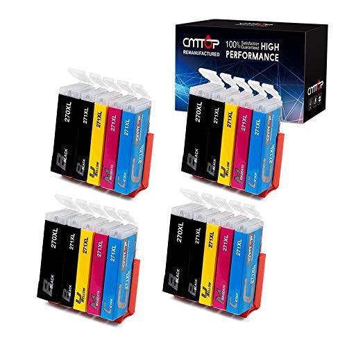 20 Packs CMTOP PGI-270XL CLI-271XL Ink Cartridges Compatible for Canon PGI-270XL CLI-271XL Ink, 5 Color, High Yield, for Canon PIXMA MG6820 MG6821 MG5720 MG5722 TS5020 TS6020 MG6822 MG5721 Printer