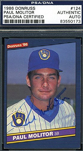 Autograph Paul Molitor (PAUL MOLITOR AUTOGRAPH PSA/DNA 1986 DONRUSS CERTIFIED AUTHENTIC SIGNED)