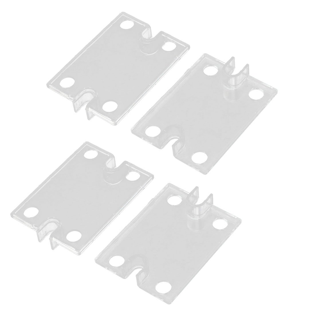 uxcell 4 Pcs 59 x 45 x 10.8mm Clear Plastic Cover for SSR Solid Relay