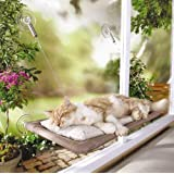 Cat Window Mounted Bed Sunny Seat Pets Hammock Bed, Hanging Seat Bed with 5 Large Suction Cups for Napping and Sunbathing (Can Withstand up to 15 kg)