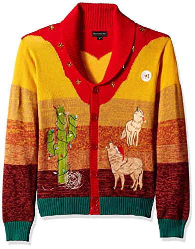 Blizzard Bay Men's Coyote Cactus Ugly Christmas Sweater, -