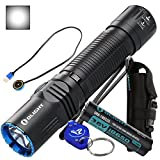 Olight M2R Warrior 1500 Lumens LED Compact Tactical Flashlight - Cool White/Neutral White LED with Lumen Tactical Keychain Light (Cool White)