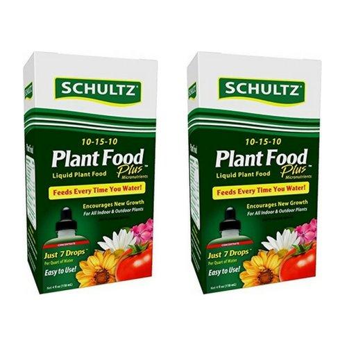 Schultz All Purpose Liquid Plant Food 10-15-10, 4 oz (2 Pack) ()