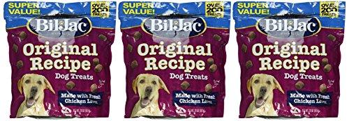 (3 Pack) Bil Jac Liver Dog Treats, 20 Ounces Each