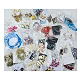 Magik 40~80 Pairs High End Quality Earrings Must-have Wholesale Jewelry Lot Various Styles and Colors (40 Pairs)