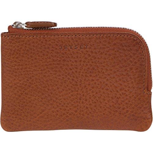 The Stowaway Wallet JETSET, Full Grain Italian Leather Travel Card & Coin Holder (Brown)