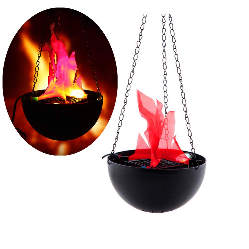 Hanging Flame Light Great Halloween Decoration, LED Fake Fire Flame Simulated Flame Effect Light 3D Campfire Centerpiece for Christmas Party Festival Night Clubs Atmosphere (Base Flame) ELEOPTION CNC8135@B