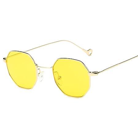 bb5134e70c7 JAGENIE Classic Men Women Hexagon Square Sunglasses Metal Eyewear Fashion  Shades Outdoor GDY  Amazon.co.uk  Kitchen   Home