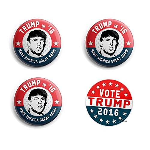 Trump for President Button Pin Make America Great - Vote Button