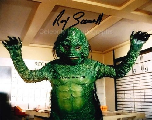 ROY SCAMMELL as the Space Animal - Space: 1999 Genuine Autograph from Celebrity Ink