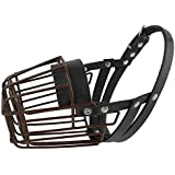 PET ARTIST Painted Basket Wire Heavy duty Dog Muzzle,Anti-bite Outdoor Safety Dog Mouth Cover for Various Dogs S