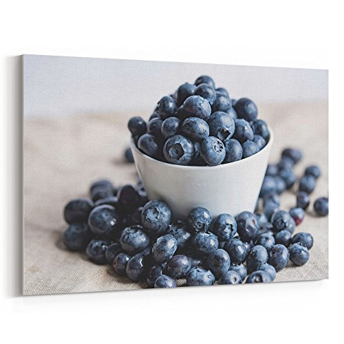 Prayer Red Bowl Flower (Westlake Art - Fruit Berry - 24x36 Canvas Print Wall Art - Canvas Stretched Gallery Wrap Modern Picture Photography Artwork - Ready to Hang 24x36 Inch)