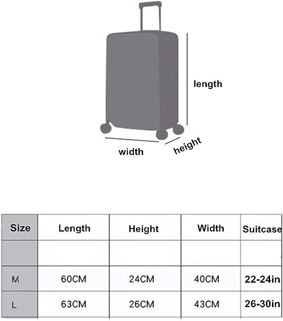 Protection Pour Valise,Housse Protection Valise Couverture elastique de voyage de bagage housse de protection antipoussiere de chariot adapte 18-32 pouces couverture seulement, valise non incluse