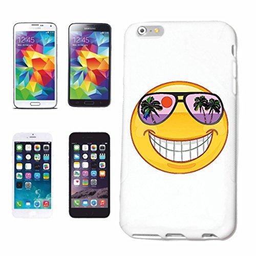 "cas de téléphone iPhone 7 ""SMILEY IN HAWAII VACANCES AVEC LUNETTES ""SMILEYS SMILIES ANDROID IPHONE EMOTICONS IOS grin VISAGE EMOTICON APP"" Hard Case Cover Téléphone Covers Smart Cover pour Apple iPhon"