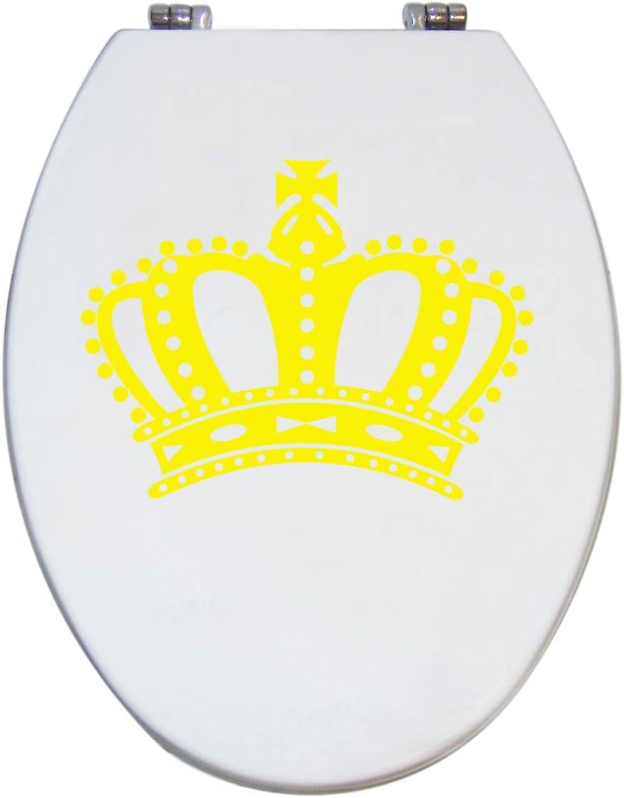Grafix Aufkleber GELB Krone f/ür Pressalit WC Toiletten Deckel