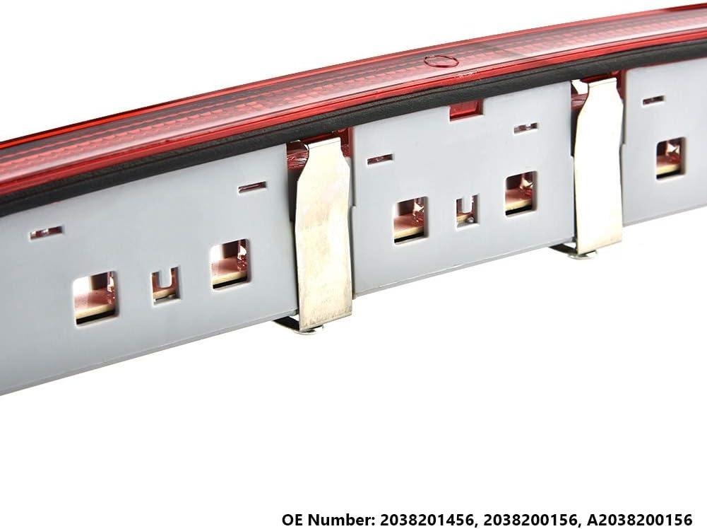 Luce di stop a LED 2038201456 Luce posteriore di stop posteriore 2038200156 Terza luce di stop a 3 /° LED di freno posteriore A2038200156 per Classe C C230 C240 C280 C320 C350 C55 AMG