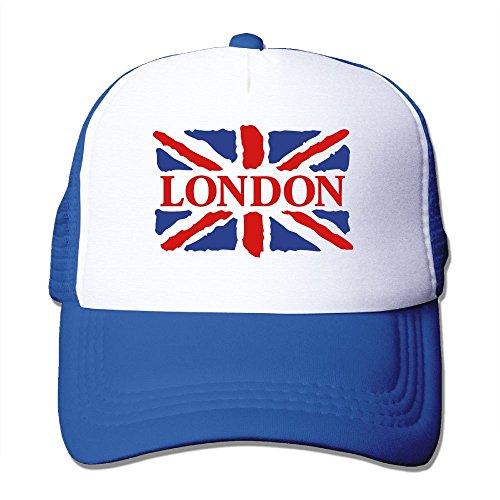 London Flag Art Big Foam Trucker Baseball Cap Mesh Back Adjustable Cap