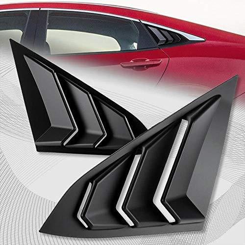 S SIZVER Side Window Louvers Scoop Cover Vent for 2016-2018 Honda Civic Sedan
