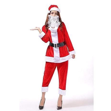 SDLRYF Disfraz De Papá Noel Disfraces De Navidad Fiesta ...