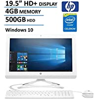 HP 19.5 HD+ All-In-One AIO Desktop Computer, Intel Dual Core Celeron J3060 1.6Ghz CPU, 4GB RAM, 500GB HDD, DVD, HDMI, USB 3.0, Webcam, Bluetooth, Windows 10 (Certified Refurbished)