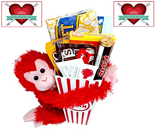 share-the-love-movie-night-gift-basket-includes-movie-popcorn-candy-stuffed-hanging-monkey-and-2-fre