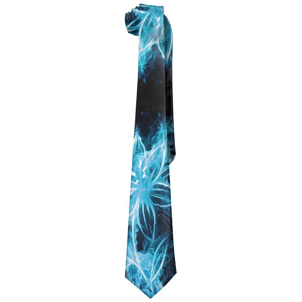 Men Fire Flower Classic Casual Tie Necktie