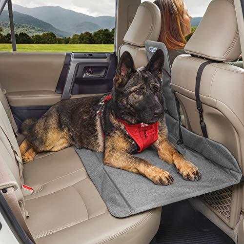 Kurgo Dog Backseat Bridge Car Extender   Seat Bridge for Dogs   Padded Pet Car Barrier   Reversible   Water Resistant…