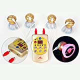 Pain relief 3in1 multi therapeutic stimulator, Low frequency/Infrared light/Cupping massage machine, muscle and nerve stimulation set for back, knee, shoulder, sciatica pain management
