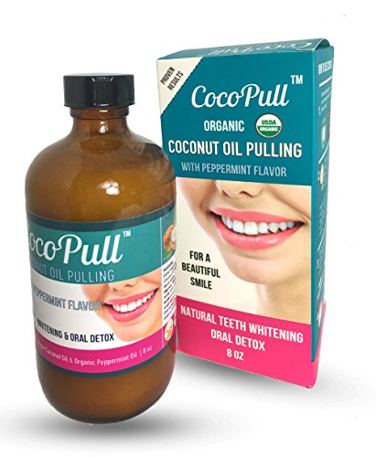 CocoPull coconut oil pulling natural teeth whitening & oral detox 8oz
