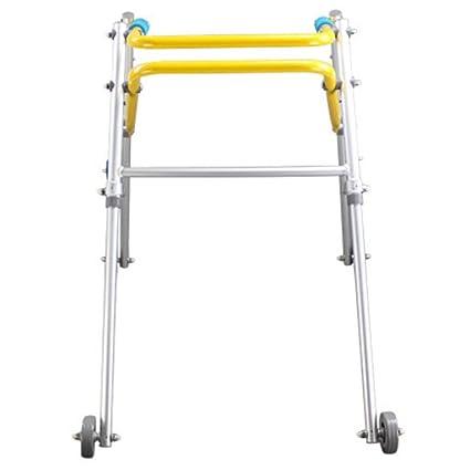 HABITREE de Aluminio para niños Plegable Andador con Ruedas disCapacitados Walker Baja Miembro rehabilitación Walker Stand