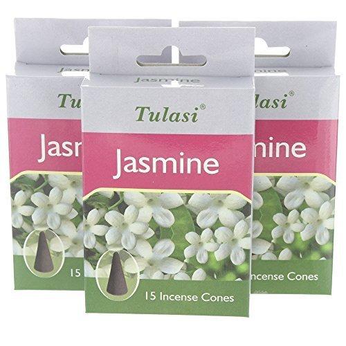 3 Packs of Tulasi Incense Cones - (Tulasi Cone)