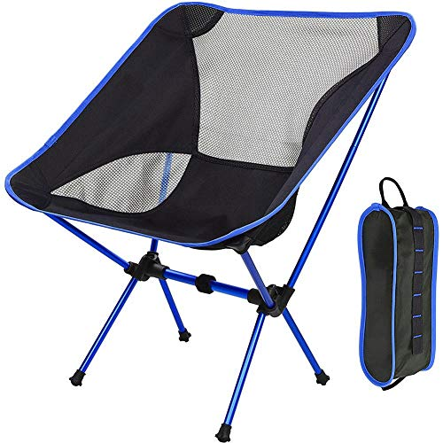 AMERTEER Ultralight Portable Folding Camping Backpacking Chair Compact & Heavy Duty Outdoor, Camping, BBQ, Beach, Travel, Picnic, Festival, Portable