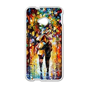 HTC One M7 White Phone Case Oil painting Durable Customized Cell Phone Case XTIAEG03034