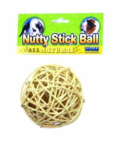 WARE MFG. INC. BIRD/SM AN 03065 NUTTY STICK BALL TREAT NATURAL MEDIUM