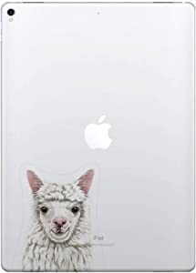 FINCIBO 5 x 5 inch Alpaca Removable Vinyl Decal Stickers for iPad MacBook Laptop (Or Any Flat Surface)