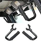 Black Steel Front GraBar Grab Handles for 1997-2006 Jeep Wrangler TJ & Unlimited