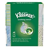 Kleenex Lotion Facial Tissues with Aloe & Vitamin E, Cube Box, 75 Tissues per Cube Box, 4 Packs
