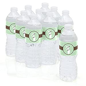 It's A Baby - Mommy-To-Be Silhouette - Baby Shower Water Bottle Sticker Labels - Set of 10