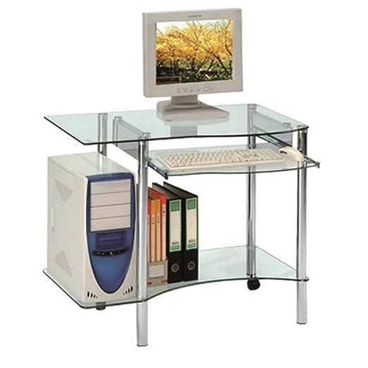 Inside Desktop Mesa para Ordenador de Cristal: Amazon.es: Hogar