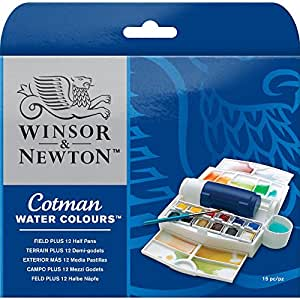 Winsor & Newton Cotman Water Color Field Plus Set