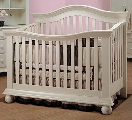 Sorelle Vista Couture 4-In-1 Convertible Crib - French White - Contemporary Youth Convertible Crib