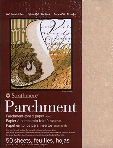 Strathmore 400 Series Natural Parchment Pad, 60 lb. Smooth Surface, 11 X 17 inches, 25 Sheets (406-4) STRATHMORE PAPER 6270038