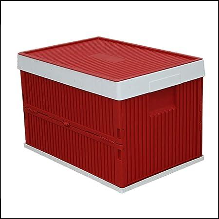 Multifuncional Caja Plegable Almacenamiento Plástico Cesto Plegable Apilables Cajas Almacenaje Lea Cesta Ordenación Portátil Organizador Del Coche Envase Plegable,Rojo: Amazon.es: Hogar
