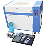 TEN-HIGH Upgraded Version CO2 60W 110V Laser Engraving Cutting Machine with USB port, Ready to Use!