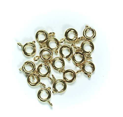 Gold Spring Ring Clasp - ALL in ONE Open Spring Ring Round Clasps (Gold)