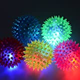 12 Light-up Spike Balls Sensory LED Flashing Stress Massage Exercise Toy