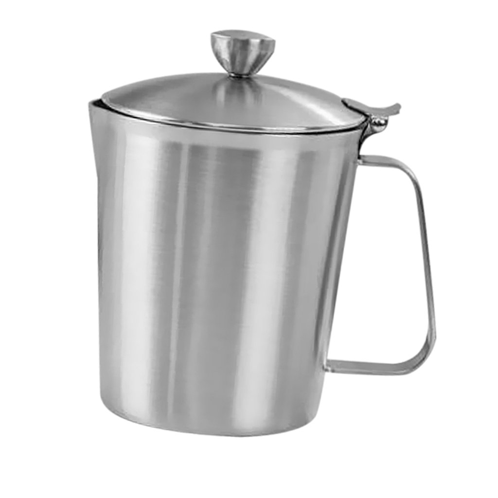 MagiDeal 500-2000ml Stainless Steel Coffee Beer Tea Mugs HOT & COLD Drink Cup Home Office School - Silver, 1000ml