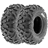 Pair of 2 SunF Power.II AT 145/70-6 (14x6-6) ATV & Go-Kart Off-Road Tires, All-Terrain, 6 PR, Tubeless A051
